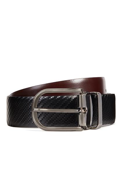 REVERSIBLE PRINTED CALFSKIN BELT, , medium