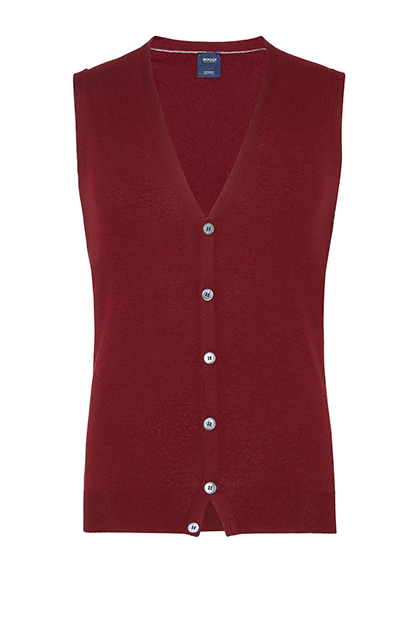 CUSTOM FIT WAISTCOAT IN SUPERLIGHT WOOL, , medium