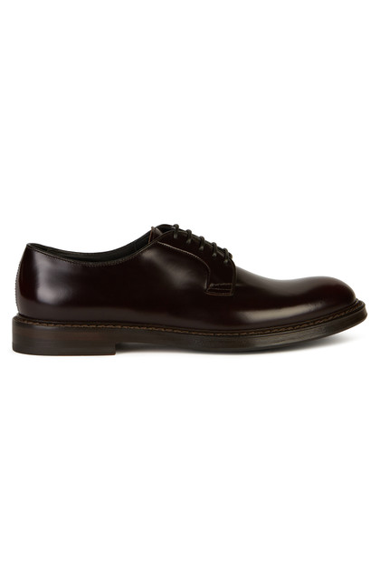 SMOOTH LEATHER DERBY SHOES, , medium