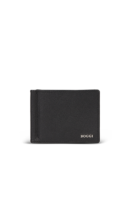 8-CARD WALLET WITH BANKNOTE CLIP, Nero, medium