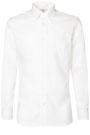 TWO PLY BUTTON DOWN COLLAR PIN POINT COTTON SHIRT, Bianco, small