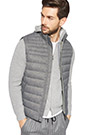 MELANGE QUILTED GILET, Grey, small