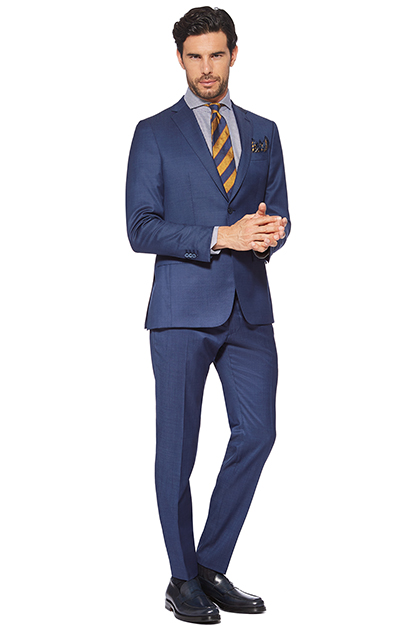 CORNFLOWER BLUE PURE WOOL ANVERSA SUIT, Bluette, medium